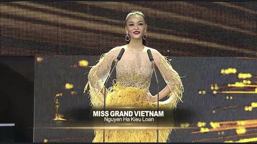 kieu loan competes in semi-finals of miss grand international hinh 1