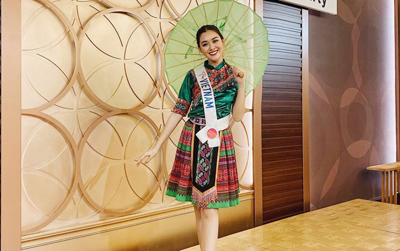 tuong san competes in talent segment at miss international hinh 1