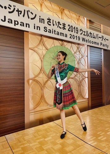 tuong san competes in talent segment at miss international hinh 2