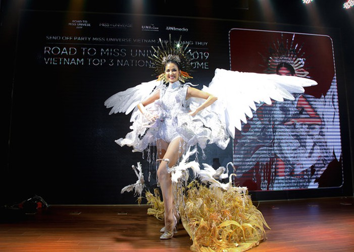 hoang thuy announces national costume choice for miss universe 2019 hinh 7