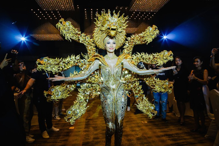 hoang thuy announces national costume choice for miss universe 2019 hinh 9
