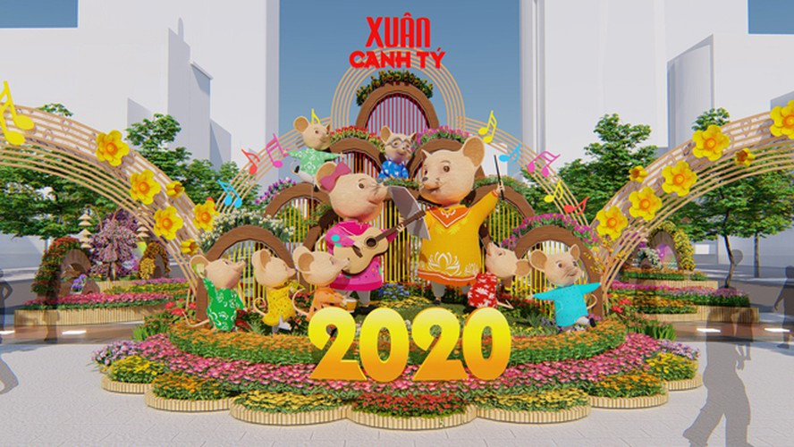 giant mice set to take over hcm city flower street ahead of lunar new year hinh 1