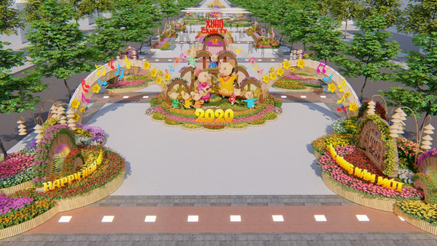 giant mice set to take over hcm city flower street ahead of lunar new year hinh 2