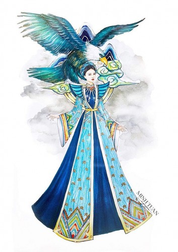 national costume revealed for thuy an at miss intercontinental 2019 hinh 1