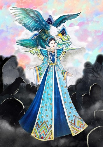 national costume revealed for thuy an at miss intercontinental 2019 hinh 2