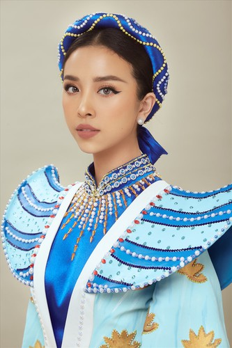 thuy an reveals national costume for miss intercontinental 2019 hinh 3