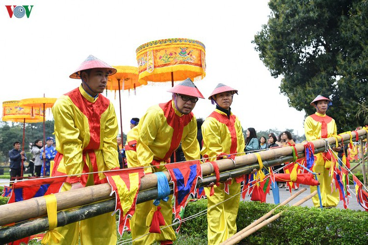 thang long relic site hosts re-enactments of traditional tet rituals hinh 11