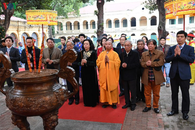 thang long relic site hosts re-enactments of traditional tet rituals hinh 1