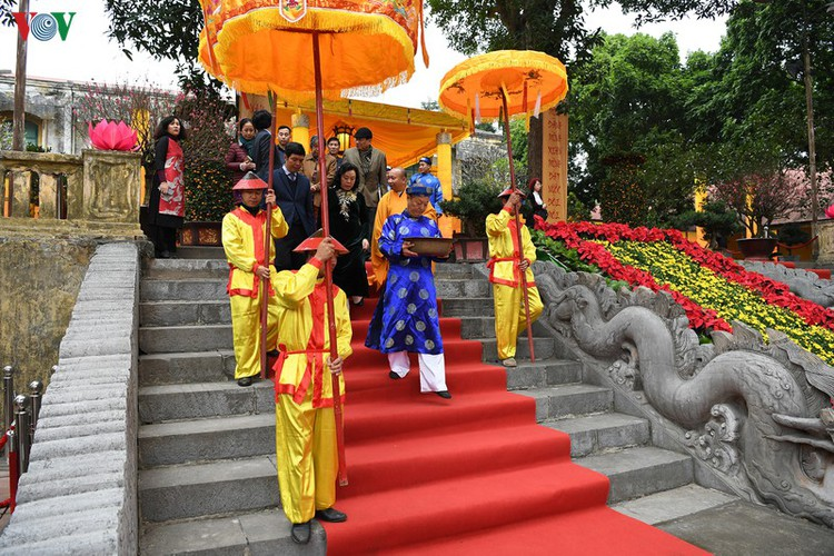 thang long relic site hosts re-enactments of traditional tet rituals hinh 4