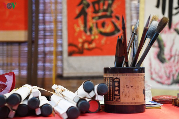 hanoi calligraphy festival set to run during tet hinh 15