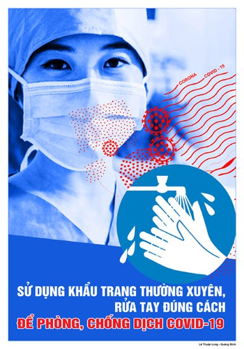 public posters about fight against covid-19 unveiled hinh 9