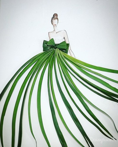 housewife shows off artistic gowns made from vegetables hinh 4