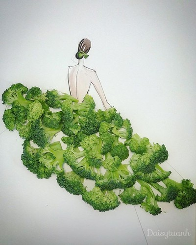 housewife shows off artistic gowns made from vegetables hinh 7