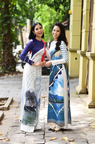 beauty queens shine in ao dai bearing images of national sea and islands hinh 10