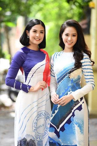 beauty queens shine in ao dai bearing images of national sea and islands hinh 11