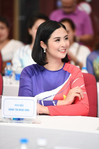 beauty queens shine in ao dai bearing images of national sea and islands hinh 13
