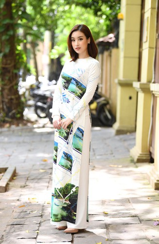 beauty queens shine in ao dai bearing images of national sea and islands hinh 4