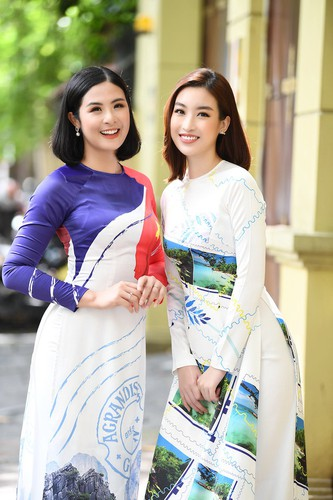 beauty queens shine in ao dai bearing images of national sea and islands hinh 6
