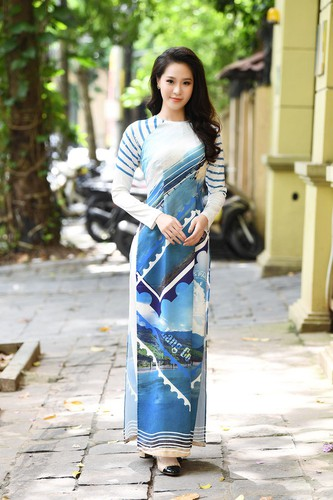 beauty queens shine in ao dai bearing images of national sea and islands hinh 8