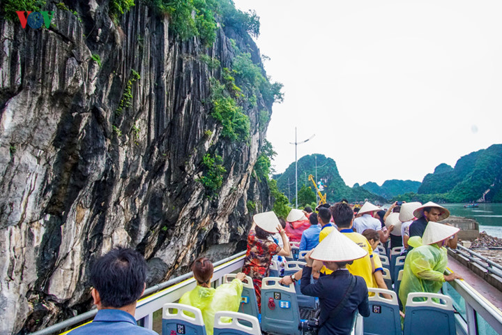 foreigners enjoy scenic views onboard double decker buses in ha long hinh 5
