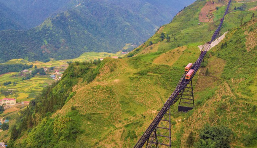 exploring sapa via the town's famed cable car hinh 2