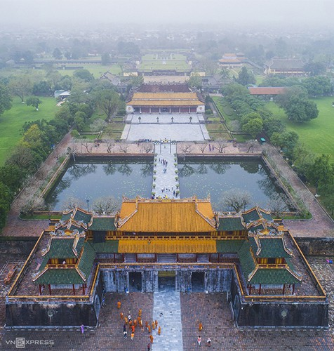 a view of hue's stunning architecture amid foggy conditions hinh 3