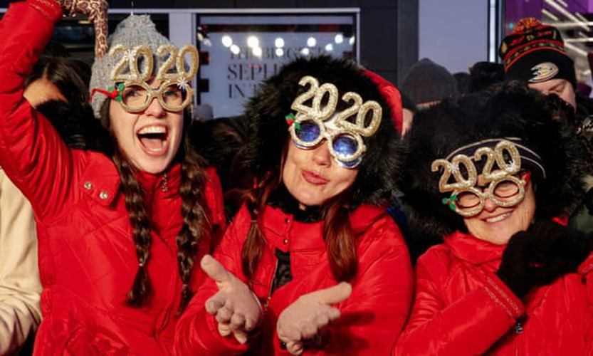 jubilant scenes as revelers around the world celebrate the new year hinh 1