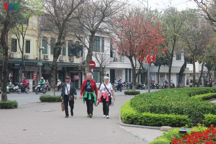foreign tourists in hanoi wander streets without face masks hinh 7