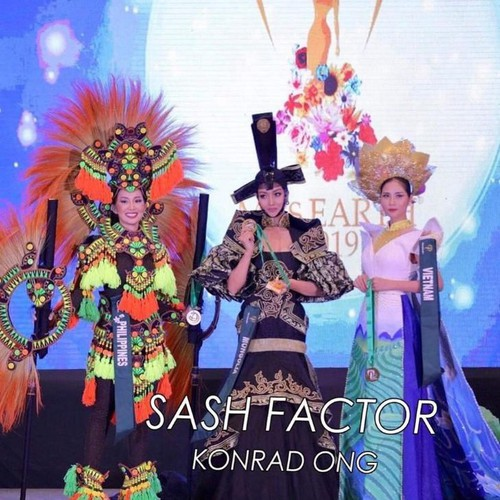 hoang hanh wins bronze in miss earth's national costume contest hinh 3