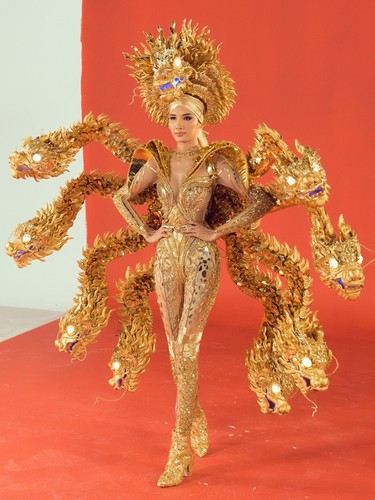 hoang thuy to pick from three national costumes ahead of miss universe 2019 hinh 4