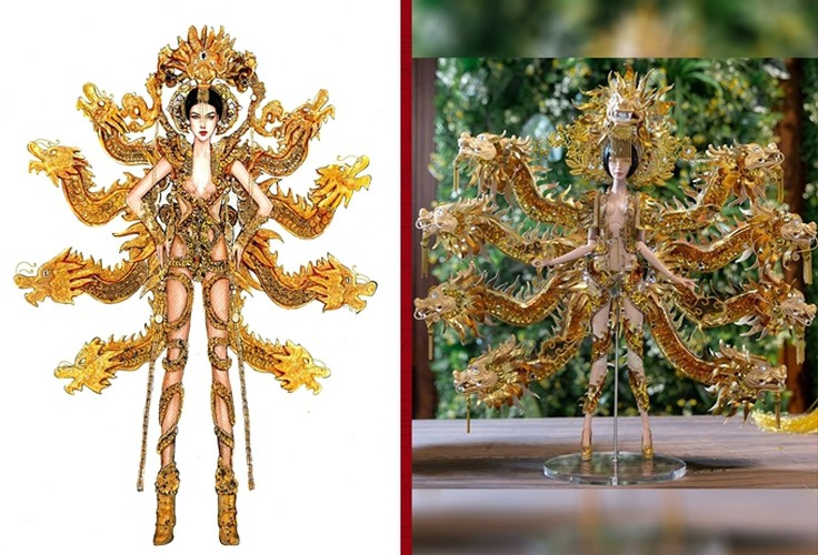 hoang thuy to pick from three national costumes ahead of miss universe 2019 hinh 5