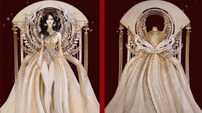 National costume entries for Hoang Thuy at Miss Universe 2019