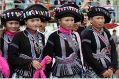 Traditional costumes of the Lu ethnic minority