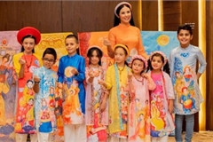 Miss Vietnam Ngoc Han unveils new Ao Dai collection in Saudi Arabia