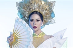 Vietnam's Hoang Hanh reveals national costume of 5,000 crystals for Miss Earth show