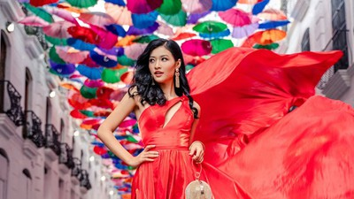 Vietnamese contestant Kieu Loan comes sixth in Top 21 at Historic Crowns Fashion Show