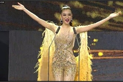VN representative Kieu Loan competes in semi-finals of Miss Grand International