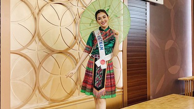 Vietnam's Tuong San competes in talent segment at Miss International