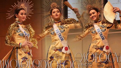 Vietnamese beauties enjoying national costume wins at global pageants