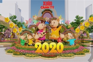 Giant mice set to take over HCM City flower street ahead of Lunar New Year