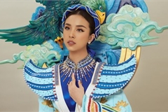 Thuy An reveals national costume for Miss Intercontinental 2019