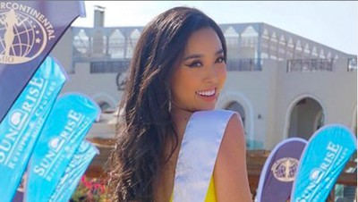 Thuy An puts in confident display at swimsuit segment of Miss Intercontinental