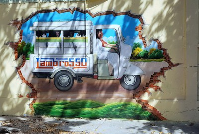 Street murals in Can Tho mark countdown to Lunar New Year