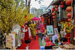 Calligraphy street in HCM City opens in countdown to Tet