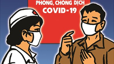 Public posters about fight against COVID-19 unveiled