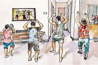 Isolation in COVID-19 fight brought to life through sketches