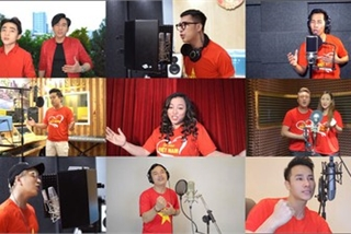 """Hundreds of artists, doctors, soldiers join in """"Proud of Vietnam"""" music video"""