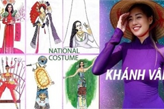 Costume designs for Khanh Van at Miss Universe 2020 feature local culture