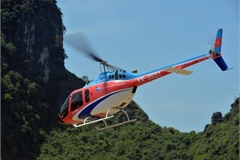 Discovering Trang An landscape complex by helicopter