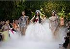 Beauty queens gather for fashion show by designer Hoang Hai